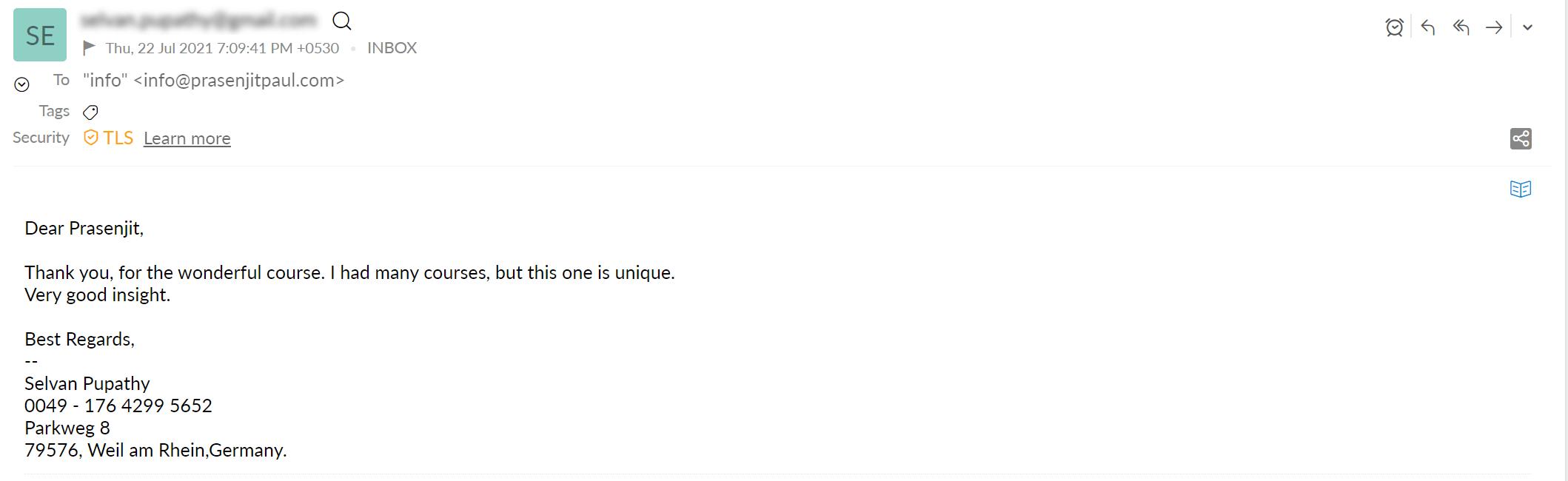Prasenjit paul review